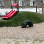Synthetic Turf Play Area w/Padding