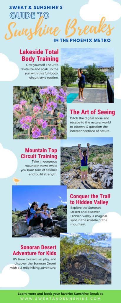 To demonstrate outdoor experiences in Phoenix, AZ