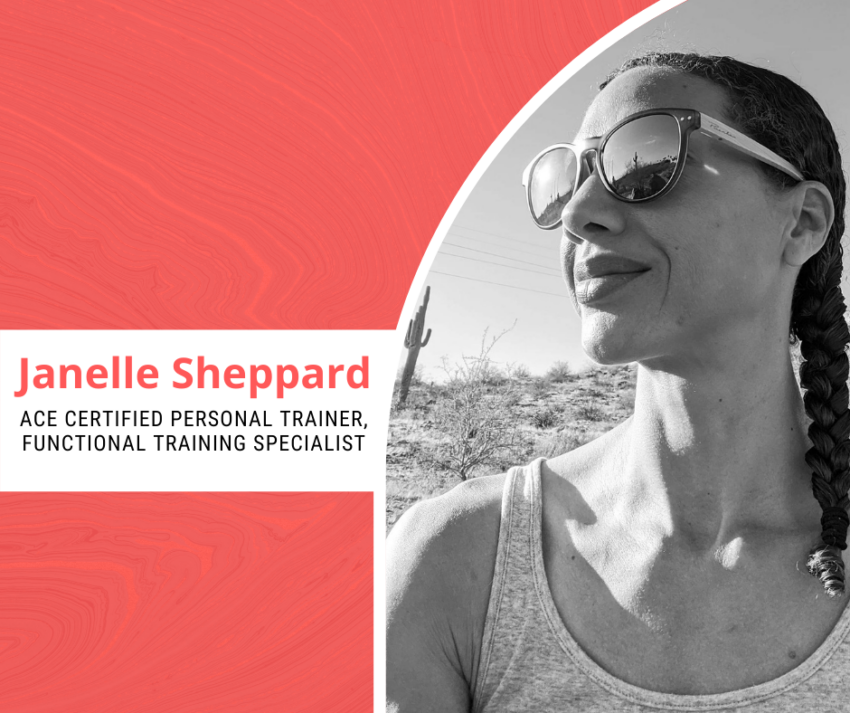 certified personal trainer Janelle Sheppard