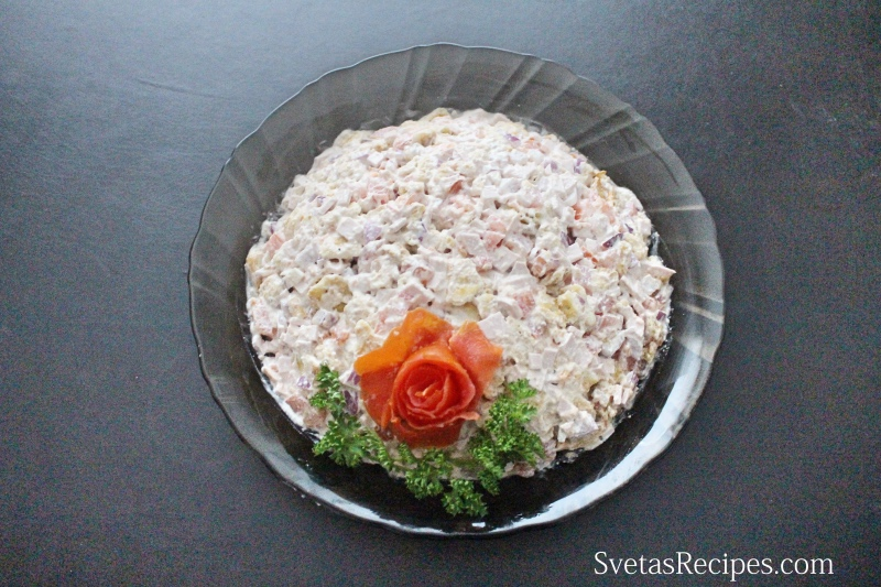 Ham And Veggies Salad