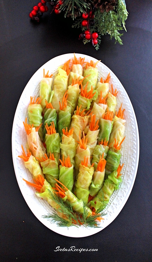 Carrot Stuffed Cabbage Roulettes ( Рулети з капустою)