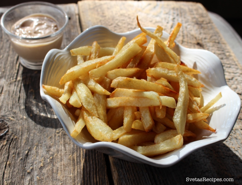 Homemade French Fries With Chick-fil-A Sauce