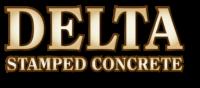 Delta Stamped Concrete Logo