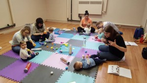 playing with sensory eggs