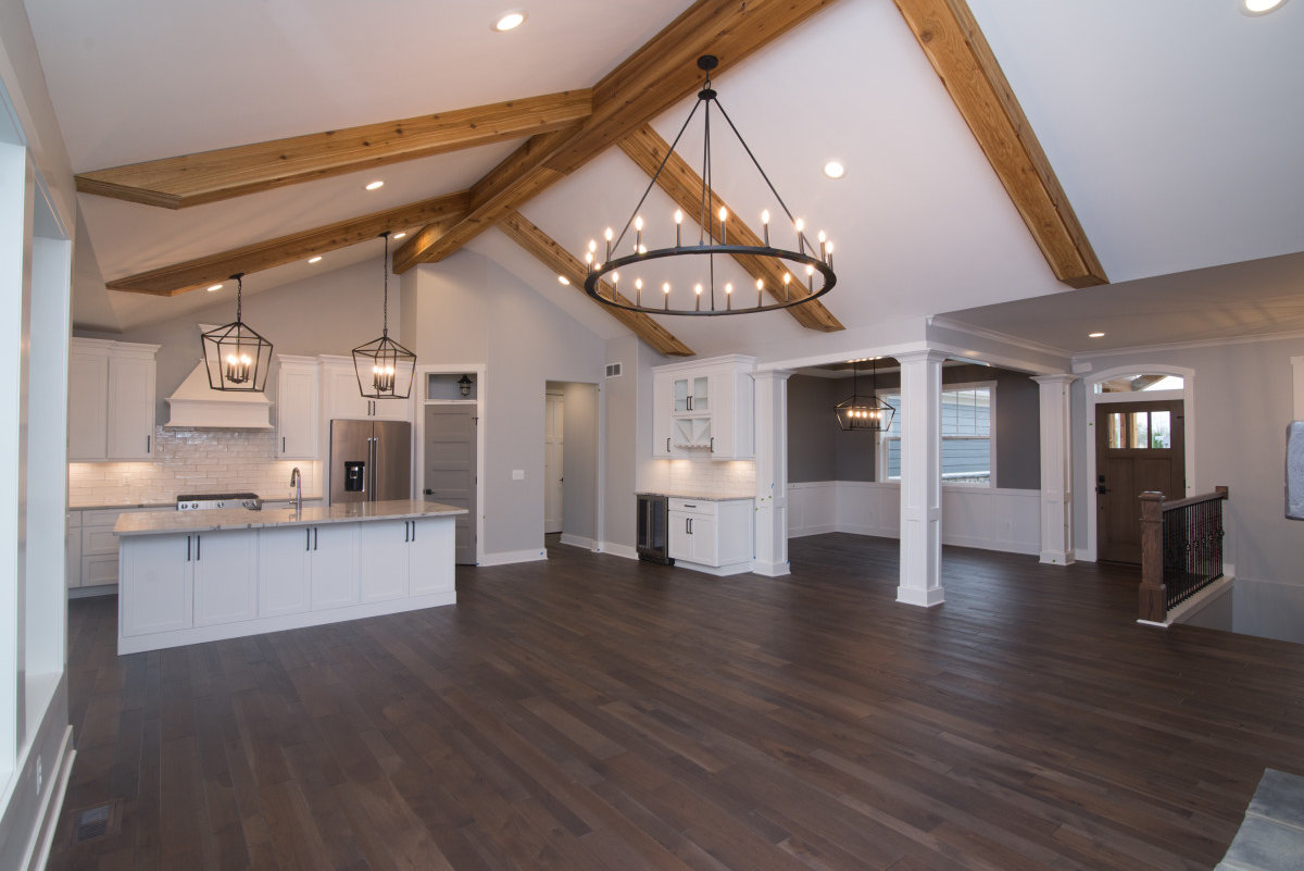 Walkout Custom Ranch with Finished Basement - Open-design