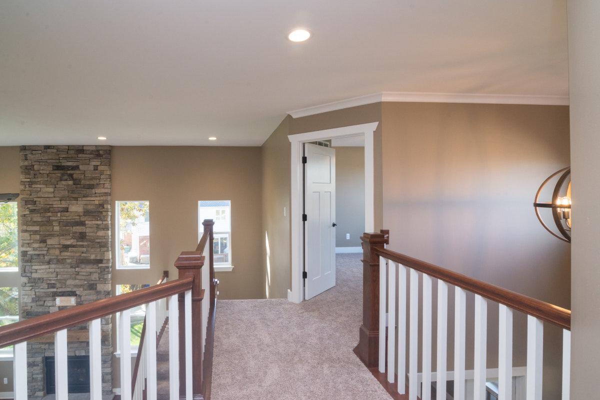 Two Story Custom Craftsman - Upstairs Hallway