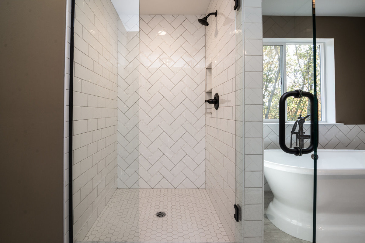 Two Story Custom Craftsman - Glass Shower and Bathroom 2