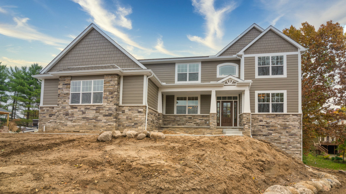 Two Story Custom Craftsman - Front Home View