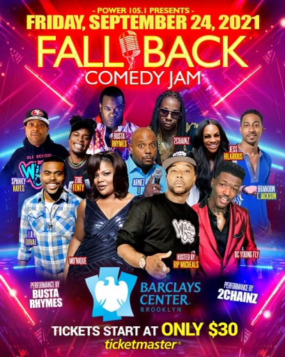 FALL BACK COMEDY JAM COMING TO BROOKLYN, NY WITH AN ALL-STAR LINEUP OF COMEDY AND MUSIC