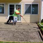 Anderson Patio - Spreading Concrete