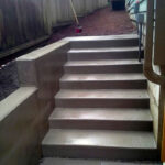 Broomed Stairs with Wall