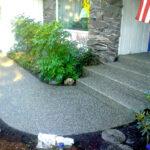 Aggregate Porch & Walkway