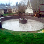 Radius Wall with Fire Pit
