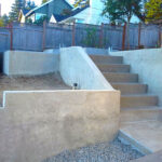 Retaining Wall with Sand Stairs