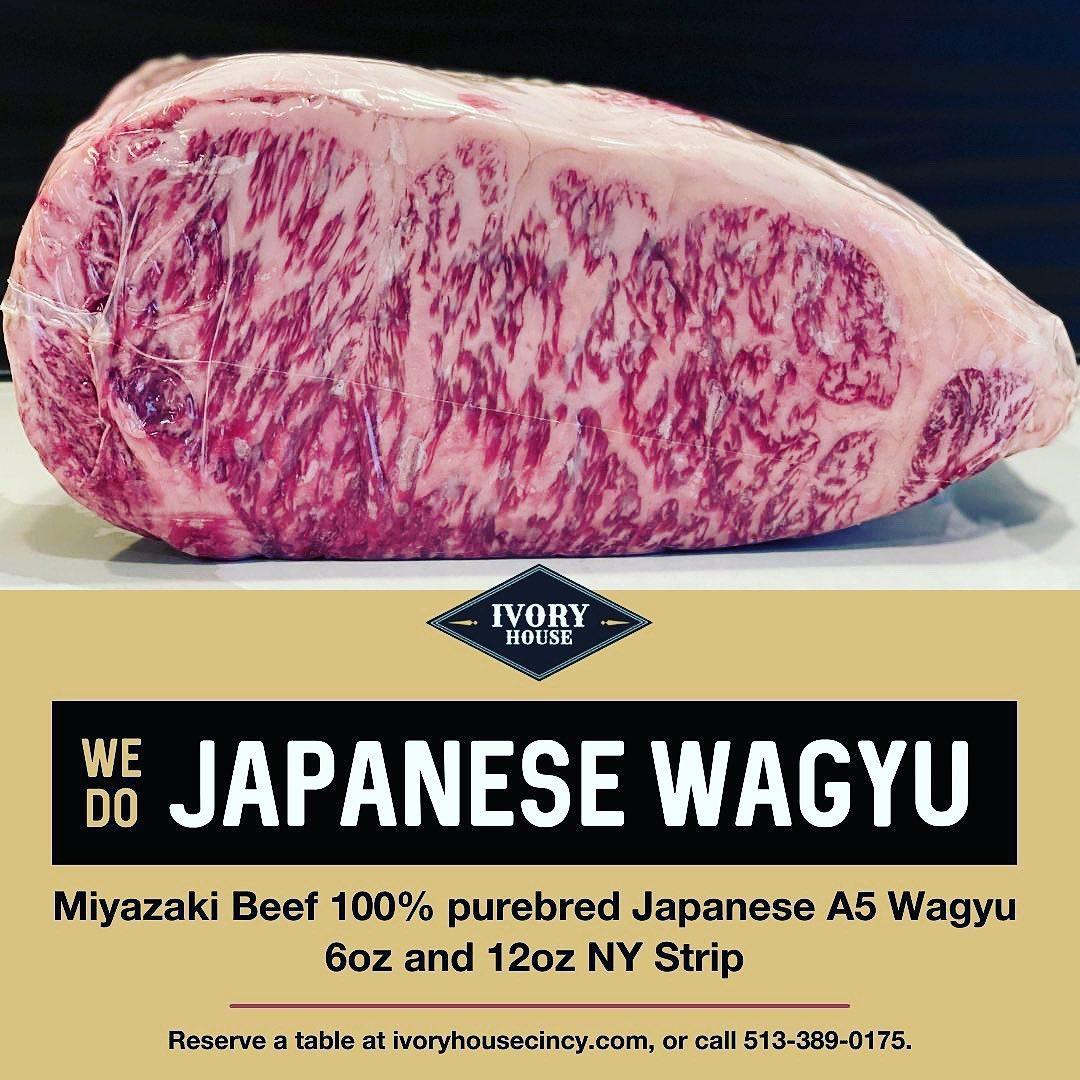 ivory house cincinnait westwood japanese wagyu A5 miyazaki steak fine dining