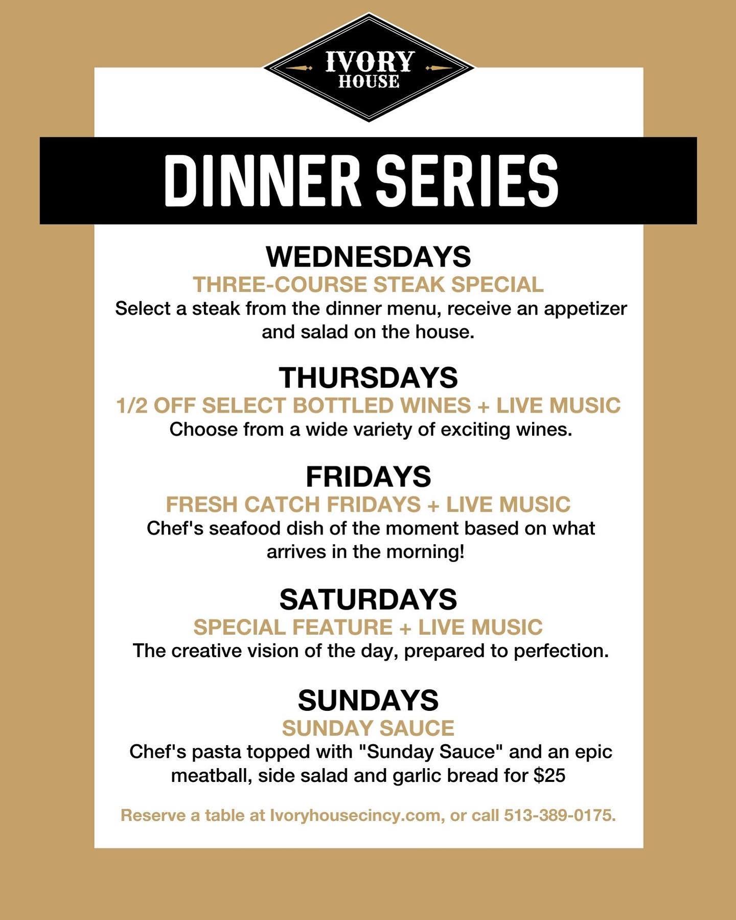 ivory house cincinnati westwood steak seafood catering specials dinner series cocktails wine beer