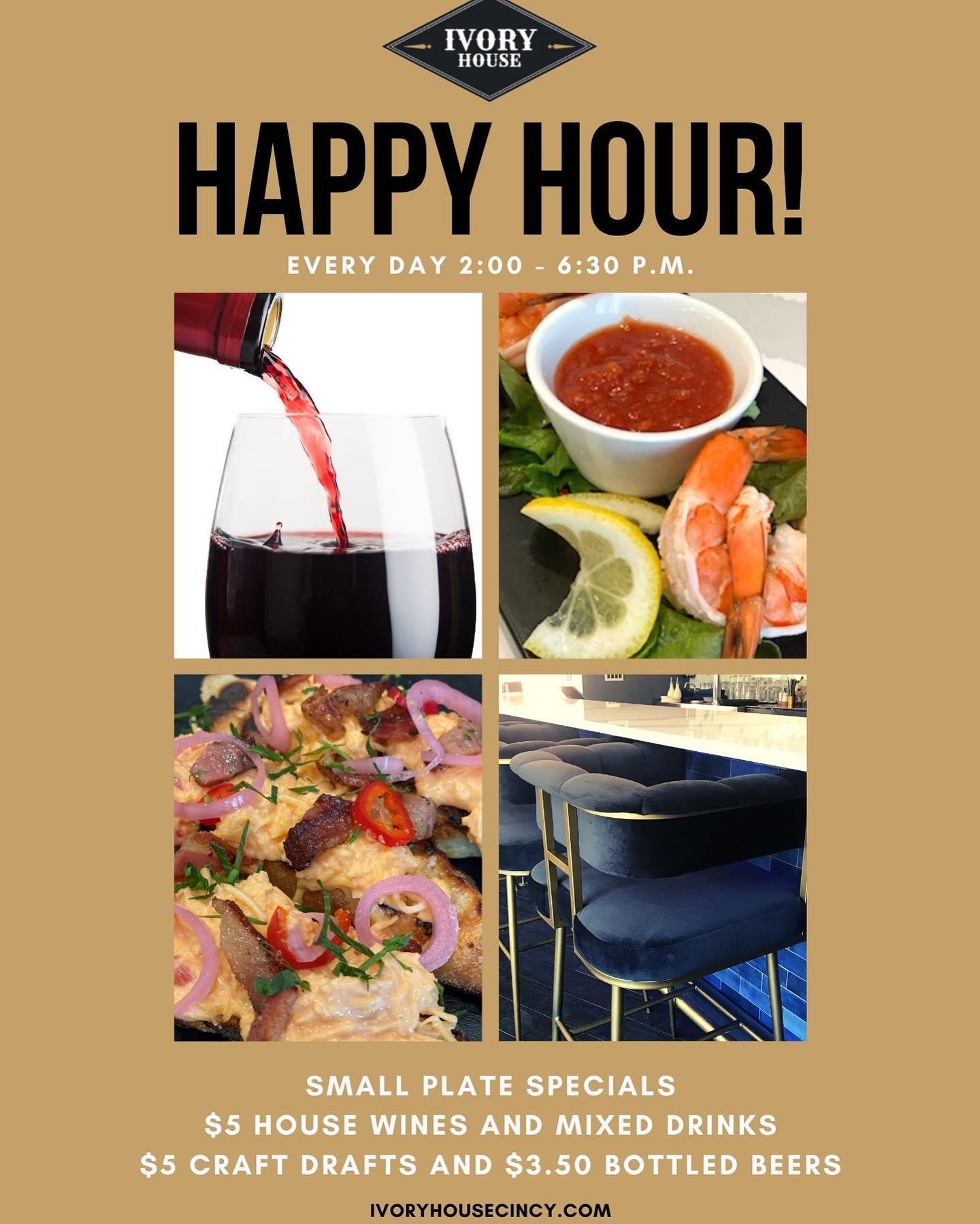 ivory house cincinnati westwood happy hour steak seafood wine cocktails beer