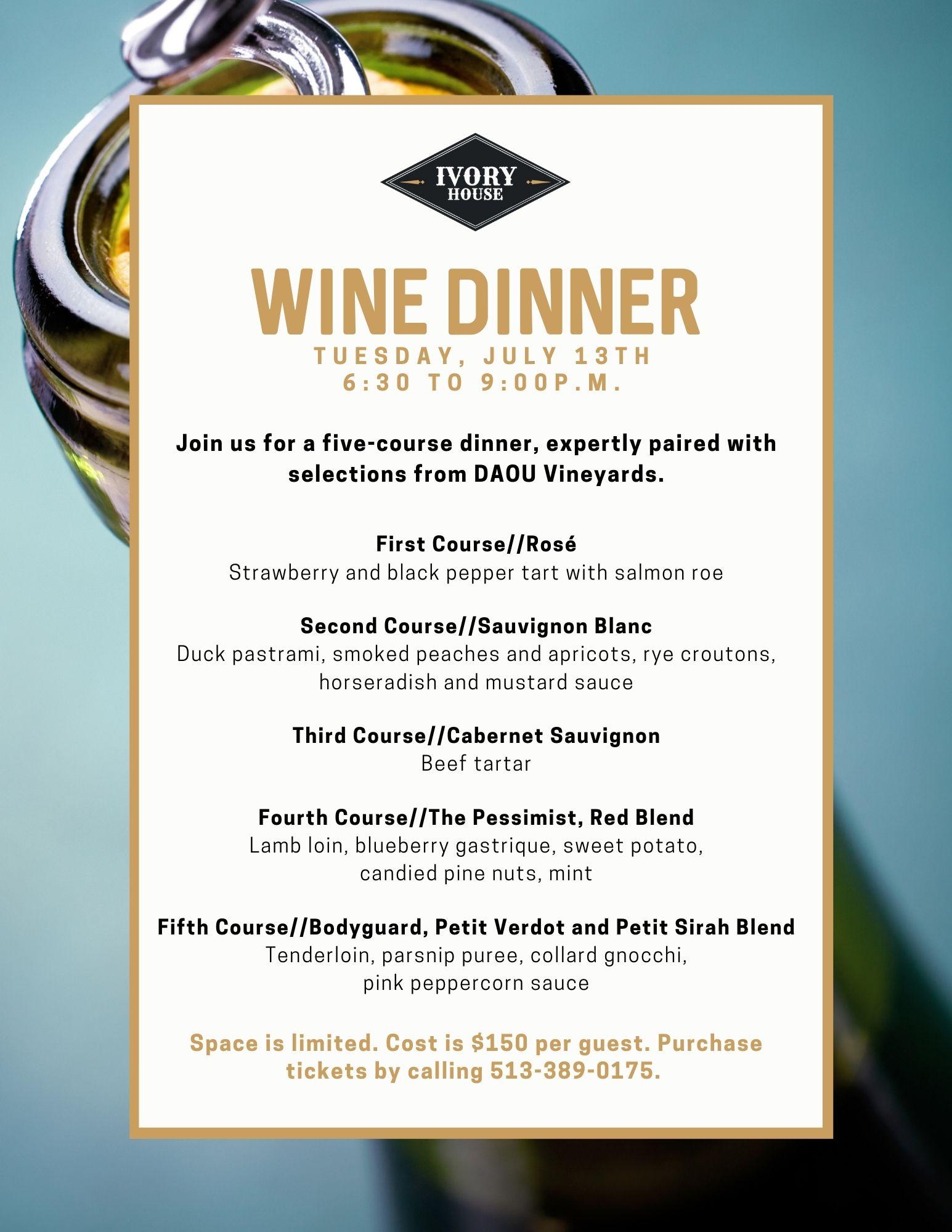 ivory house cincinnati wine dinner daou cincinnati westwood steak casual fine dining
