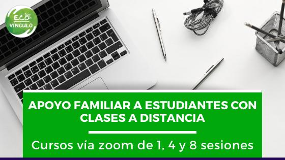 Estudiantes con clases a distancia