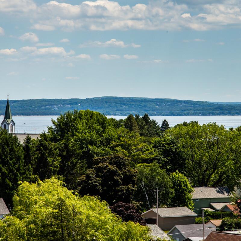 Overlooking Harbor Springs Michigan