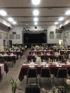 Main Hall set up for a wedding.