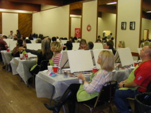 Family Centre set up for a Paint Night