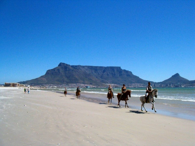 On the beach in Milnerton, where Robbie grew up