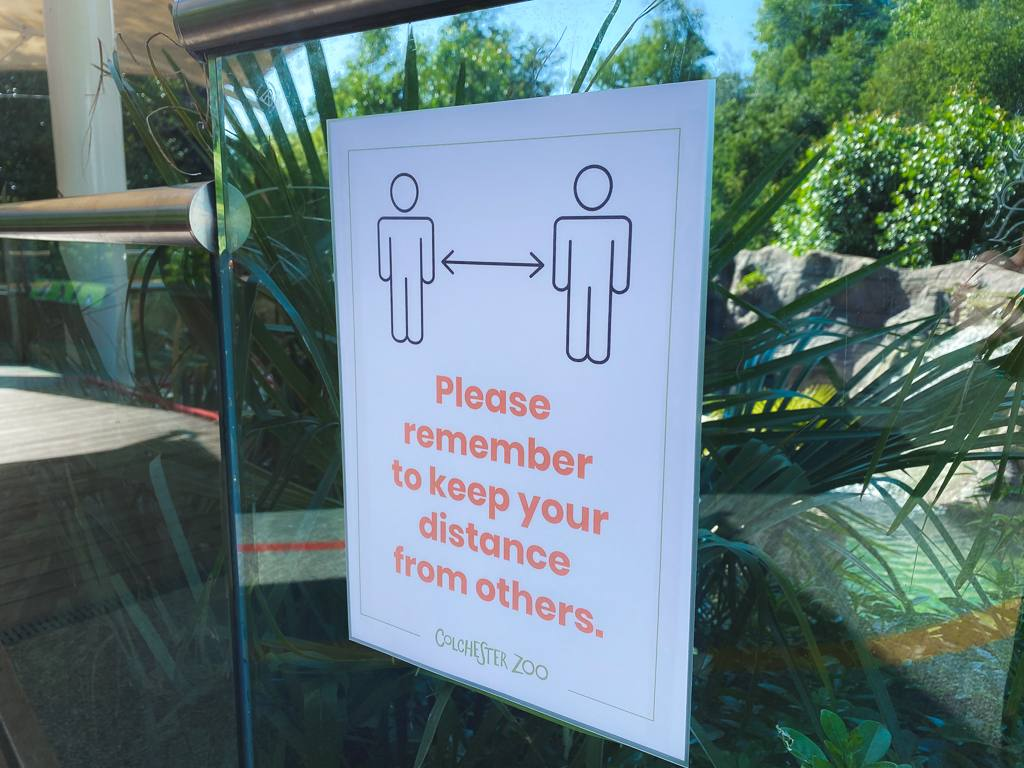 Colchester Zoo Social Distancing Guidelines