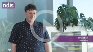 NDIS Participant Story: Christian and his work of Art