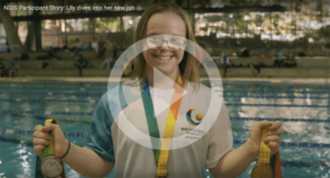 NDIS Participant Story: Lily dives into her new job
