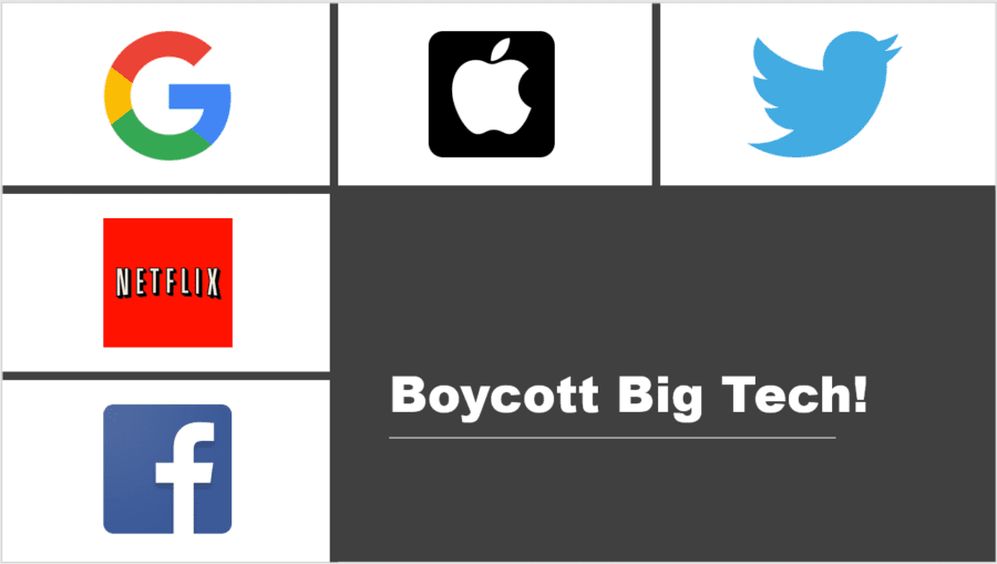 Boycott Big Tech: The Best Way for Conservatives to Push Back Against the Leftists