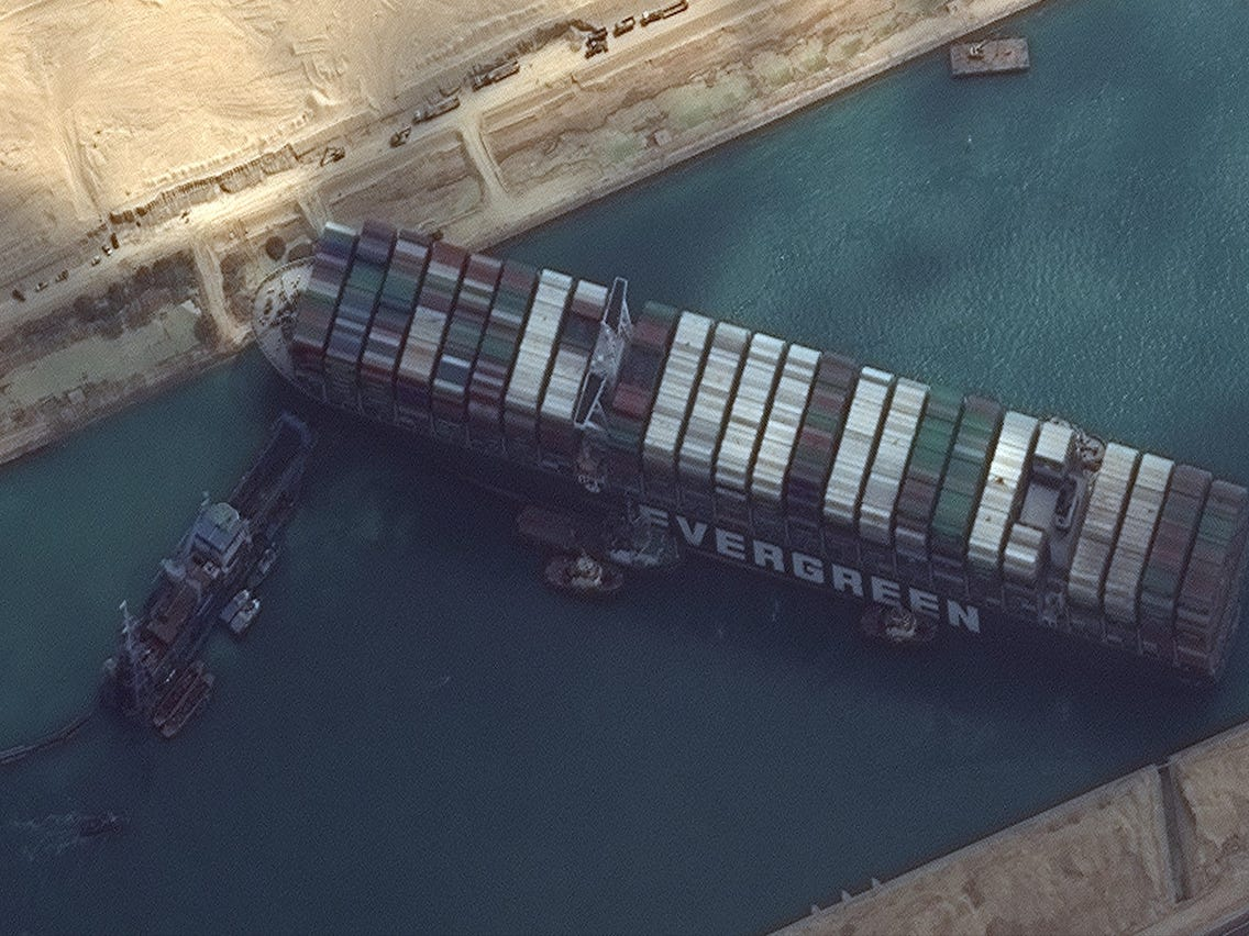 Ship Blocking the Suez Canal Linked to Clinton?