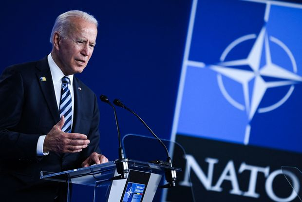 Biden Draws Fire for Attacking Republicans During NATO Summit