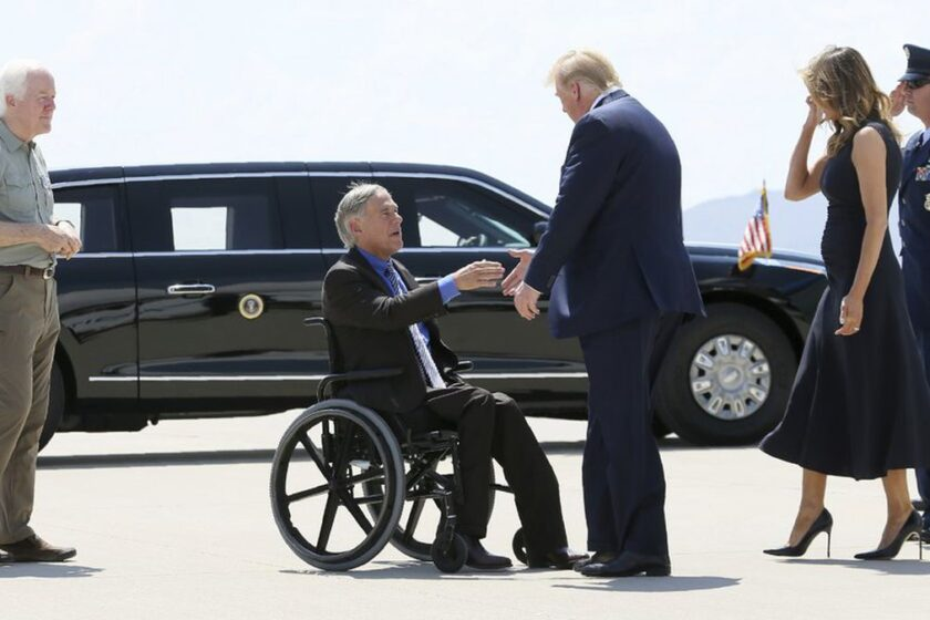 Trump Joins Texas Gov In a Visit to the Border