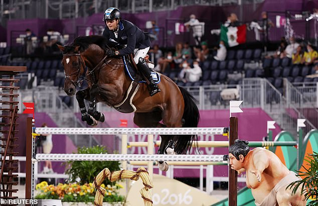 Equestrian Olympians Say That Their Horses Were Being Spooked by a Statue of a Sumo Wrestler!