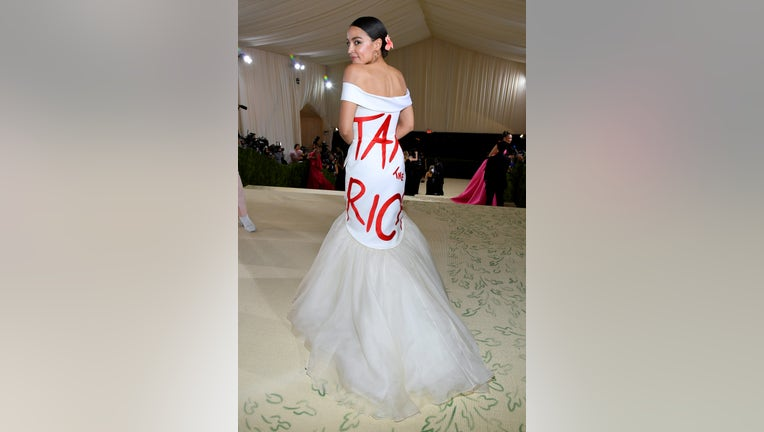 """BREAKING: AOC Wears """"Tax the Rich"""" Dress to Exclusive Gala at the Met!"""