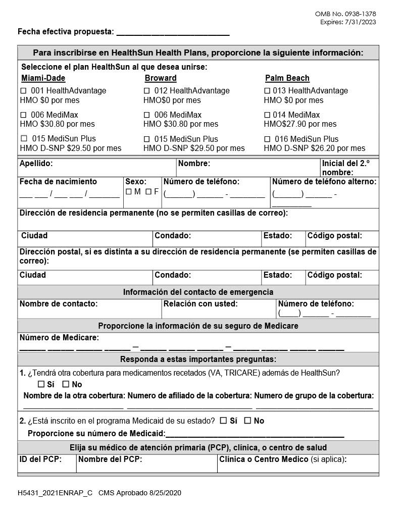 HealthSun Enrollment Application Spanish1024_1