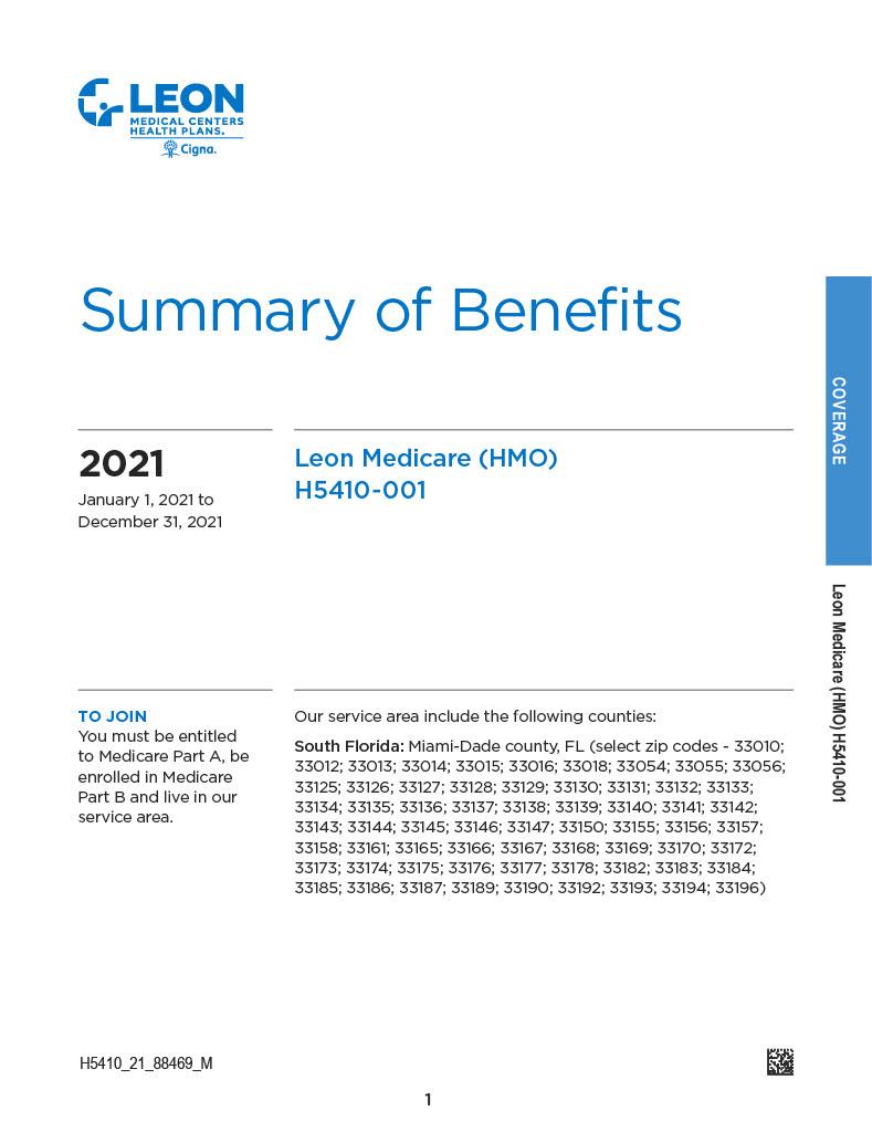 Summary of Benefits Leon English1024_1
