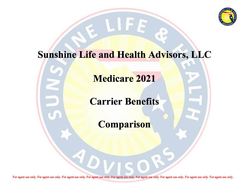 Sunshine Life and Health Advisors Carrier Comparison 211024_1