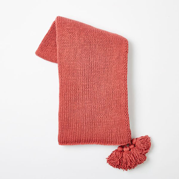 West Elm Cotton Tassle Throw