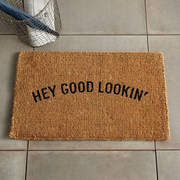 West Elm Hey Good Lookin Door Mat