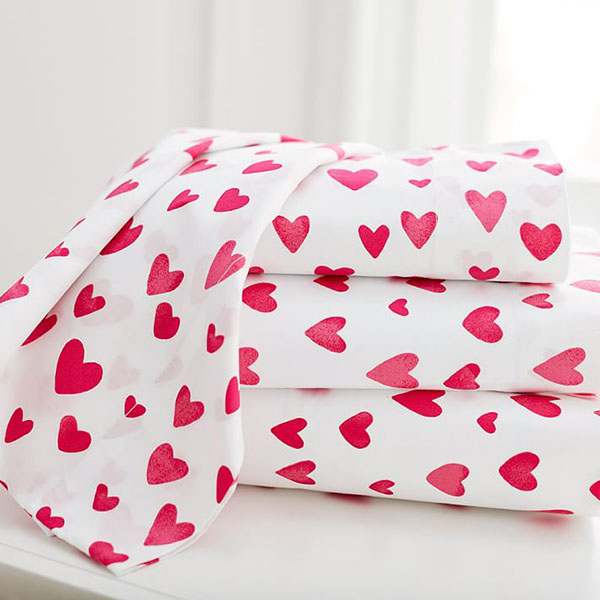 PBteen Maybaby Painted Hearts Sheet Set