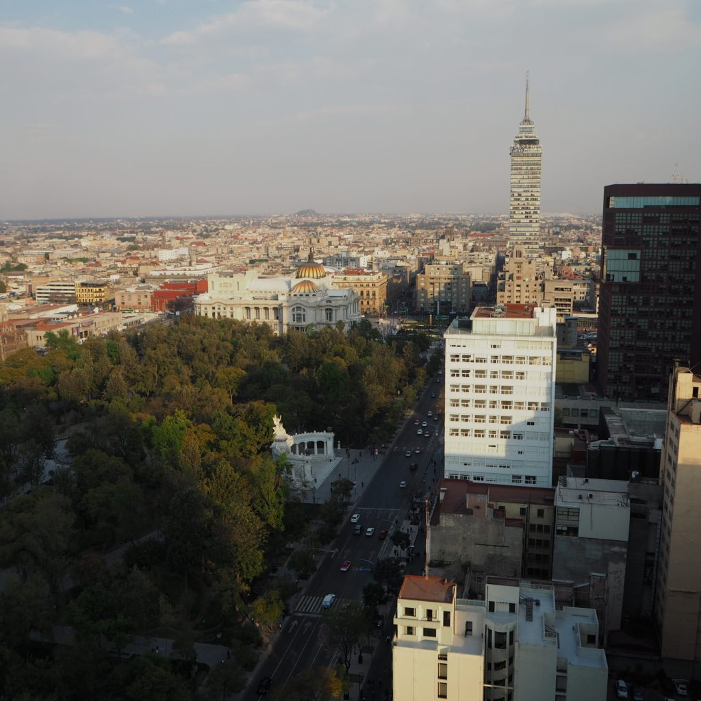 View from Hilton Reforma in Mexico City - Modern Stripes