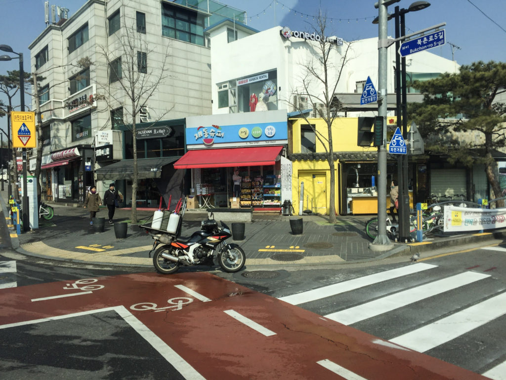 Layover in Seoul Streets on Modern Stripes