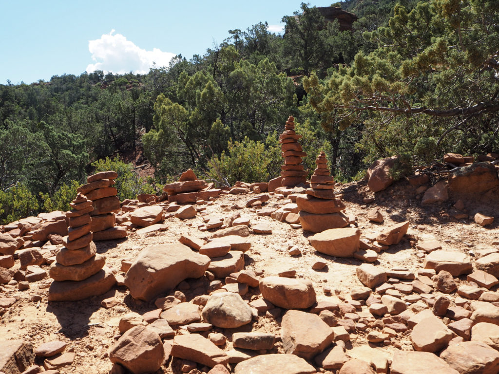 Stacked Rocks at Devil's Bridge in Sedona via Modern Stripes