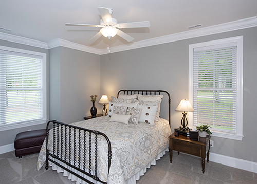 Bedroom with crown molding