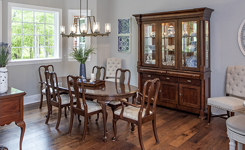 Dining room with hard wood floors