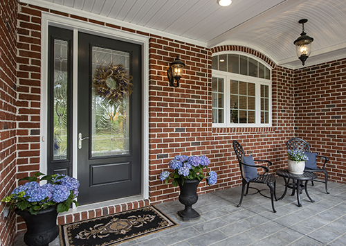 Front porch with brick