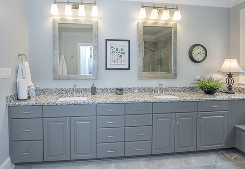 Master bathroom with double sinks