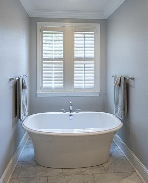 Soaking tub in master bathroom